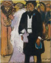 Sortida del teatre - 1900 - Pastel i carbó i sobre paper - 24,3 × 19,6 cm - Col·lecció privada