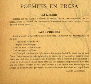 Poemets en prosa - El llamp i Les il·lusions  - Núm. 13, Revista Quatre Gats, 11/05/1899, p. 2